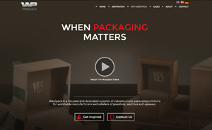 Webdesign for Westpack Holstebro
