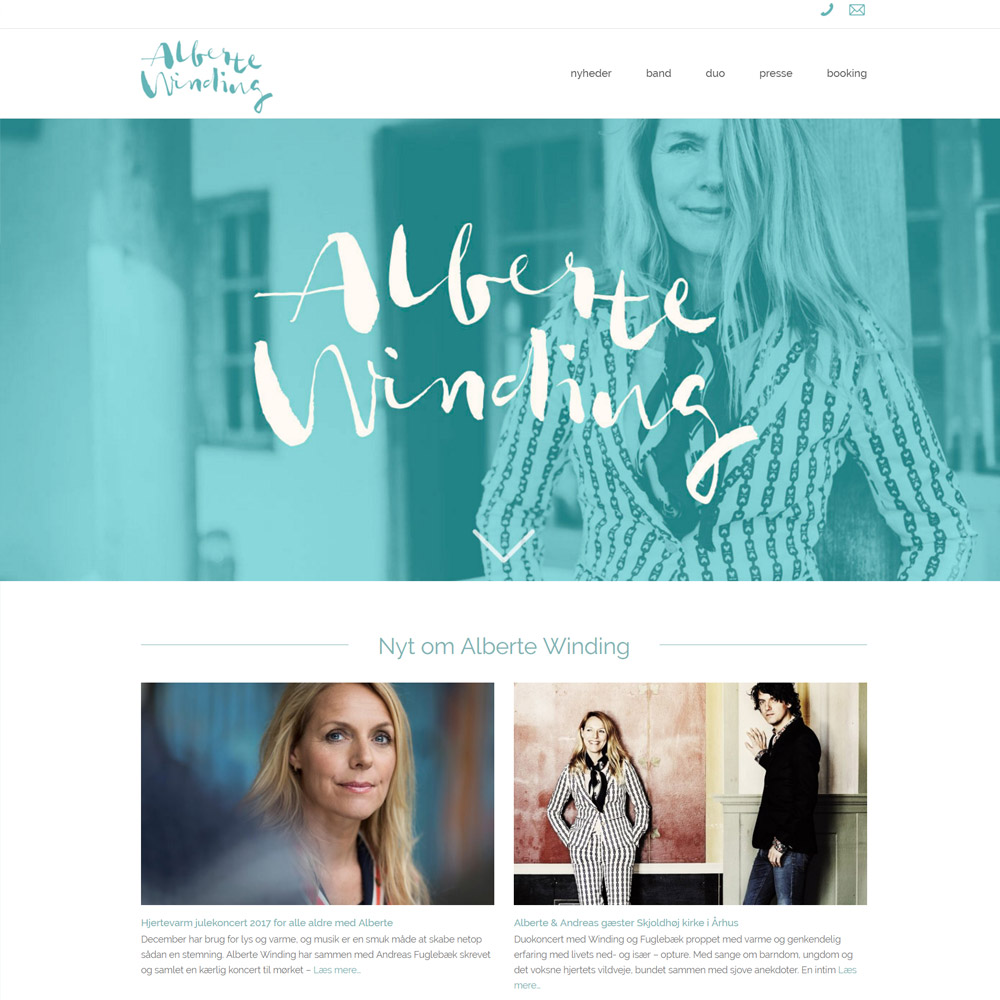 Alberte Winding Wordpress webdesign